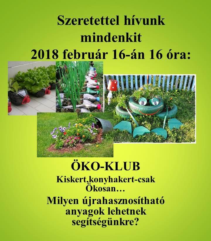 Öko Klub meghívó