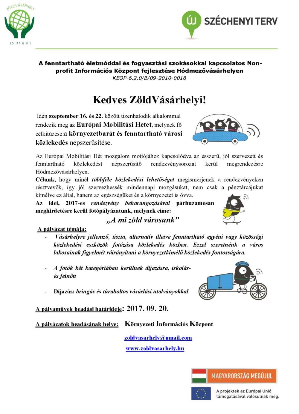 Mobilitási hét 2017 - Fotópályázat